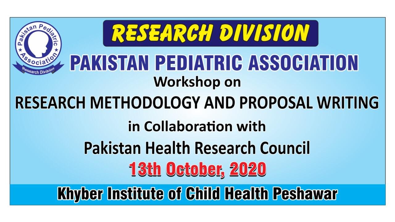 Pakistan Health Research Council 13th October 2020 (WORKSHOP)